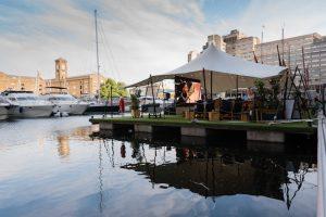 St Katharine Docks floating film festival